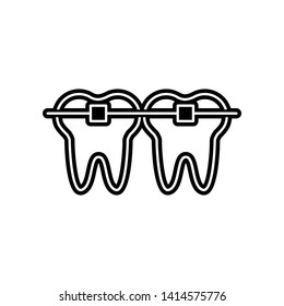 tooth braces icon. Element of Dantist for mobile concept and web apps icon. Glyph, flat icon for website design and development, app development