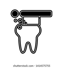 tooth brush icon. Element of Dantist for mobile concept and web apps icon. Glyph, flat icon for website design and development, app development