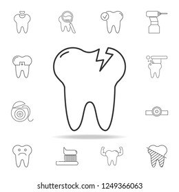 Tooth Caries icon. Detailed set of dental outline line icons. Premium quality graphic design icon. One of the collection icons for websites, web design, mobile app