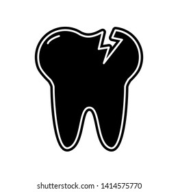 Tooth Caries icon. Element of Dantist for mobile concept and web apps icon. Glyph, flat icon for website design and development, app development