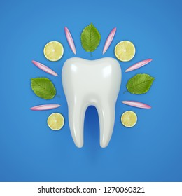tooth teeth 3D tooth 3D rendering White healthy tooth