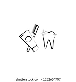 tooth, tooth wash icon. Element of dantist for mobile concept and web apps illustration. Hand drawn icon for website design and development, app development