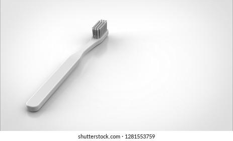 toothbrush left 3d rendering