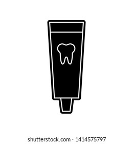 Toothpaste icon. Element of Dantist for mobile concept and web apps icon. Glyph, flat icon for website design and development, app development