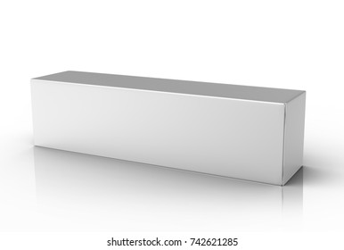 Toothpaste package mockup, blank white tube box in 3d render