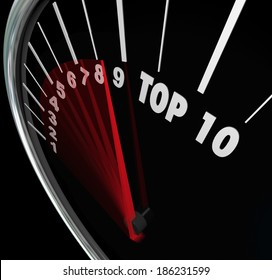 Top 10 Numbers Speedometer Scores Ten Best Results