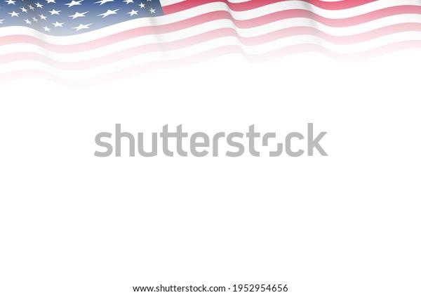 top border american flag illustration graphic fade gradient effect presentation card