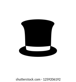 top hat icon. Simple glyph illustration of party set for UI and UX, website or mobile application