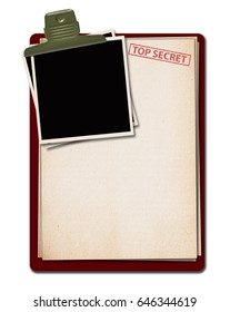 Top secret document isolated. Illustration.