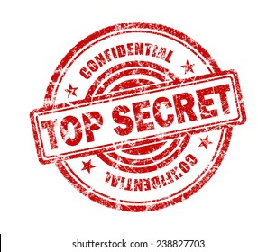 Top Secret Stamp On White Background
