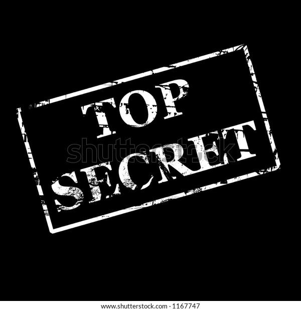 Top Secret White On Black Background Stock Illustration 1167747