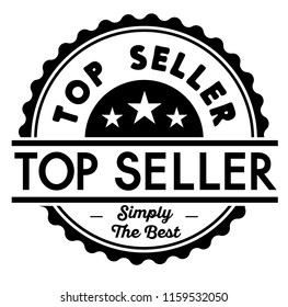 Top Seller label on white background