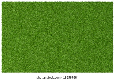 Top view angle of green grass meadow