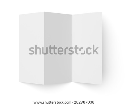 top view leaflet blank trifold paper stock illustration 282987038