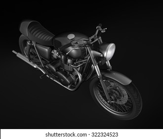 top view of a motorcycle on a black background
