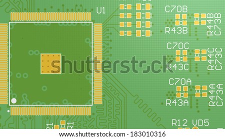 Top View PCB 3 D Circuit Cad Stock Illustration 183010316 - Shutterstock