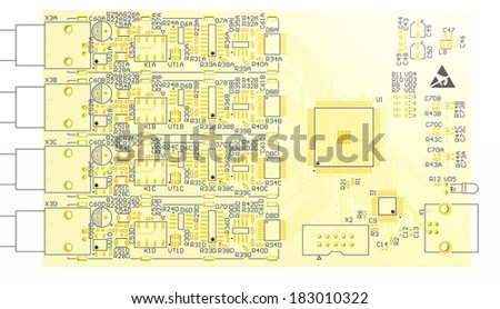 Top View PCB 3 D Circuit Cad Stock Illustration 183010322 - Shutterstock