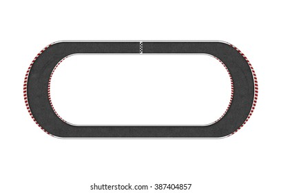 top view of race circuit isolate on white background