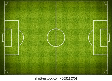 Top view of stripped soccer field. (org. size: 2999x2000 px)