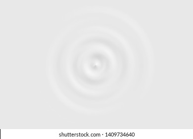 Top view of white water ring or white liquid surface, soft background texture