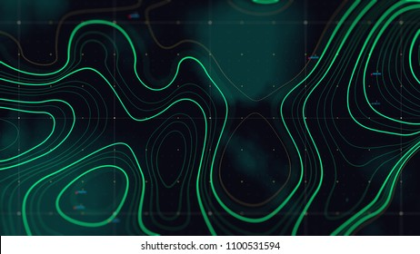 Topographic map background concept. Topo contour map. Wavy backdrop.