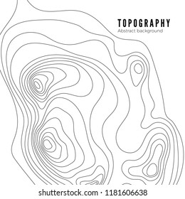 Topographic map contour background pattern. Contour Landscape Map Concept.  Abstract Geographic World Topography Map. illustration