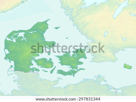 Denmark Topographic Map.Royalty Free Stock Illustration Of Topographic Map Denmark Shaded