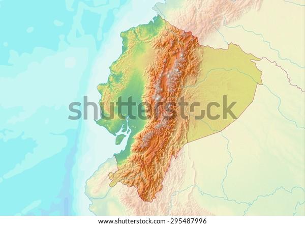 Topographic Map Ecuador Shaded Relief Elevation ...
