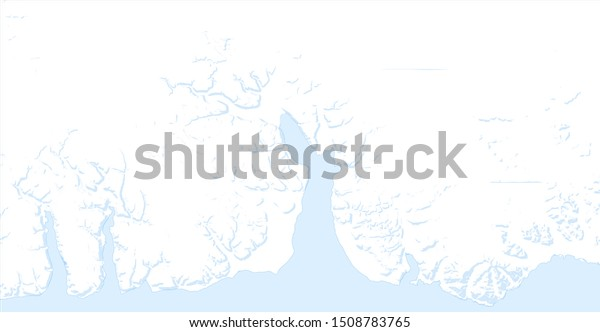 Topographic Map Mountains Greenland Blue White Stock ...