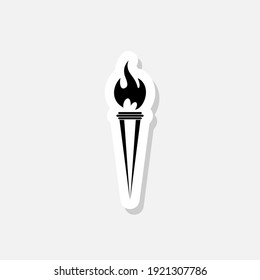 Torch sticker icon isolated on white background