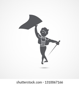 Toreador icon on white background