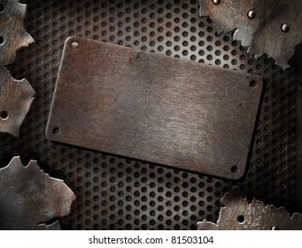 Torn metal template