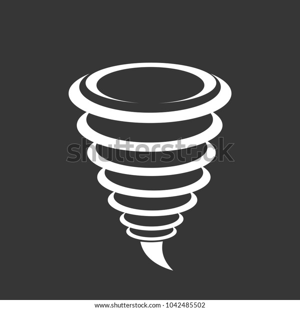 Tornado Icon isolated on gray background