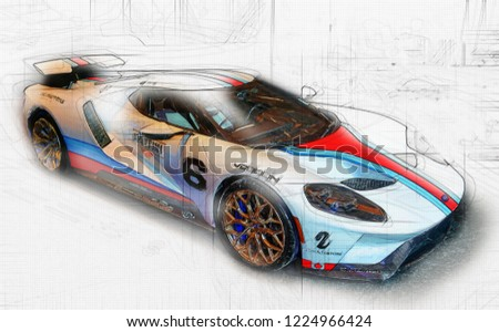 Torontocanada February  Ford Gt Model  Is American Mid