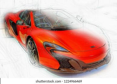 Mclaren 650s Stock Illustrations, Images & Vectors