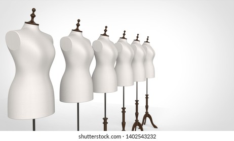 torso multiple left 3d rendering
