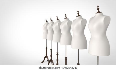 torso multiple right 3d rendering