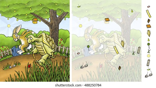 Tortoise and Hare - Hidden Picture