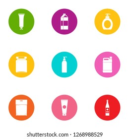 Tory icons set. Flat set of 9 tory icons for web isolated on white background