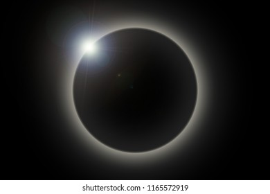 Total solar eclipse. Space background