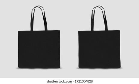 tote bag mockup 3d rendering design