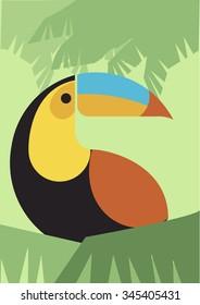 Toucan bird - Retro Illustration