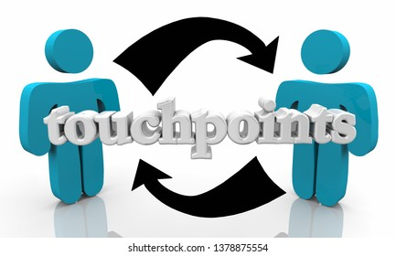 Touchpoints People Customers Communication Connecting Arrows 3d Illustration