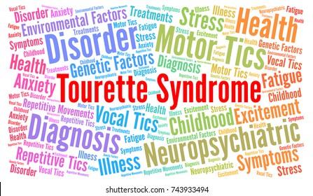 Tourette syndrome word cloud