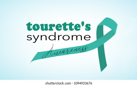 Tourette's syndrome awareness background with ribbon