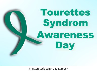 Tourette's syndrome awareness background with ribbon, health awareness week, illustration