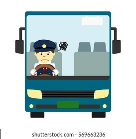 Tourist bus with driver