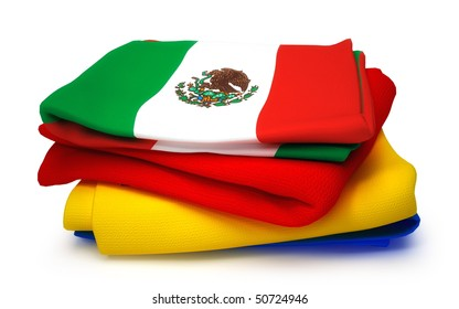 Towel with Mexico flag