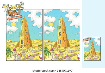 Tower of Babel bible story - spot the difference