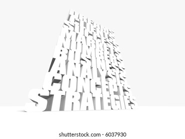 a tower of business related buzzwords
